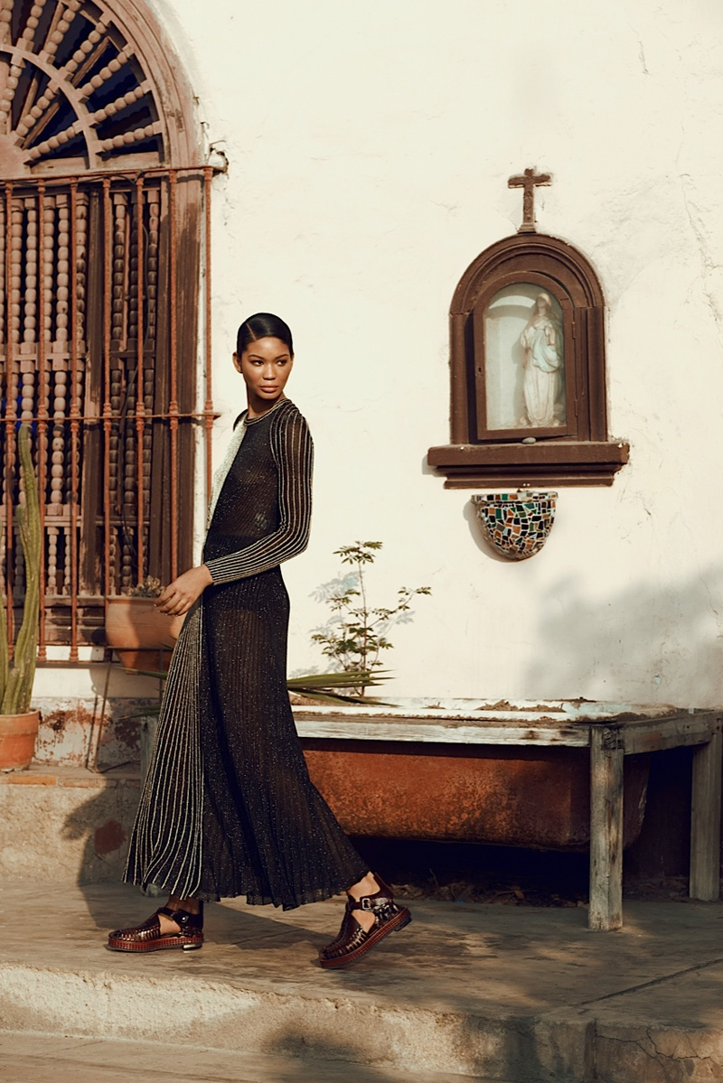 chanel iman photo shoot 2014 5 Chanel Iman Brings the Glam for Bazaar Russia by Alexander Neumann