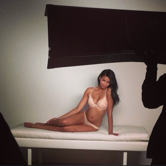 Chanel Iman shares behind the scenes of upcoming Victoria's Secret shoot