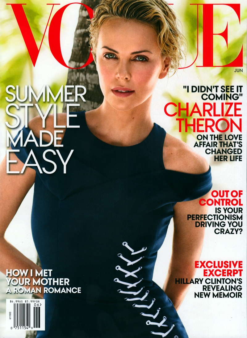 charlize theron vogue june 2014 cover Charlize Theron Lands Sixth Vogue Cover with June 2014 Issue