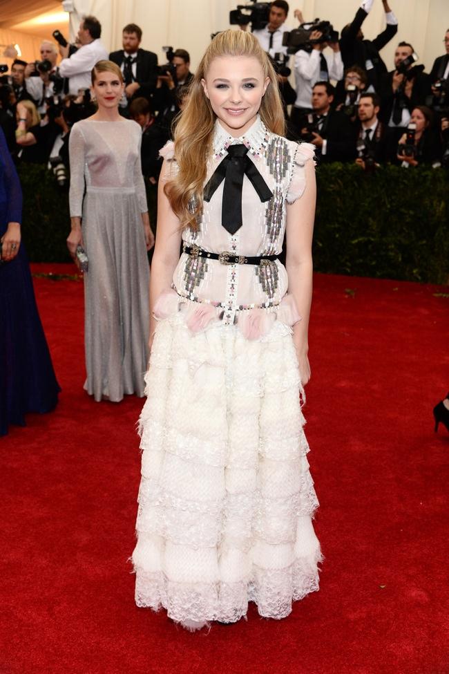 Chloe Grace Moretz wears a Chanel look