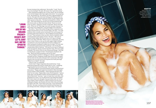 chrissy teigen cosmo shoot3 More Photos of Chrissy Teigens Delicious Cosmopolitan Shoot