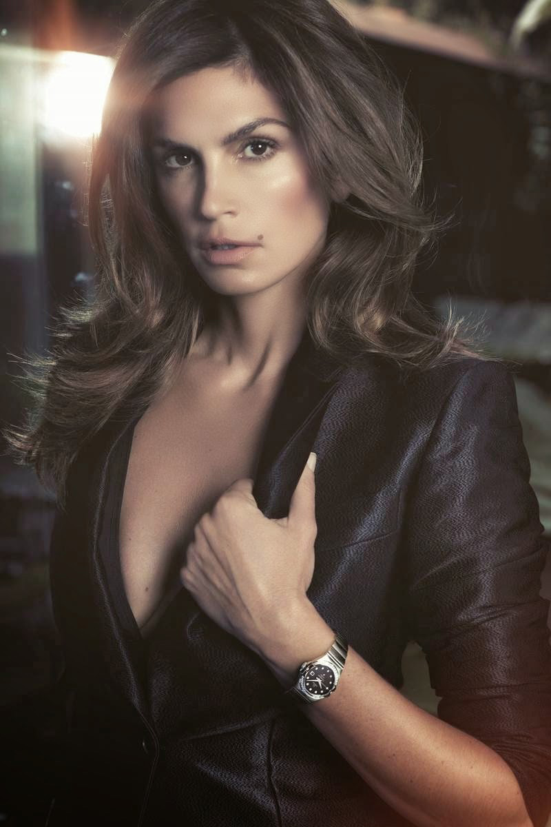 Image: Cindy Crawford for Omega Watches. Photo by Bruno Dayan
