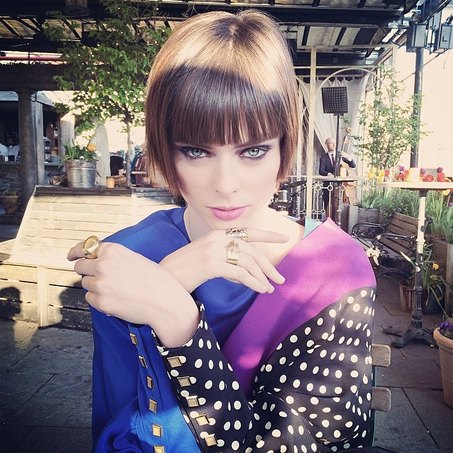 Model Coco Rocha cut her hair into a short bob.