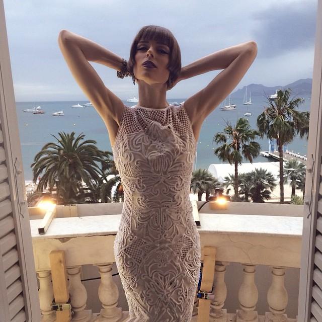 Coco Rocha strikes a pose in Cannes