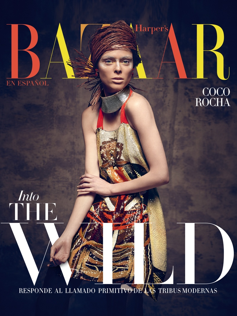 coco rocha bazaar mexico photos1 Coco Rocha Gets Wild for Harper's Bazaar Mexico Cover Shoot