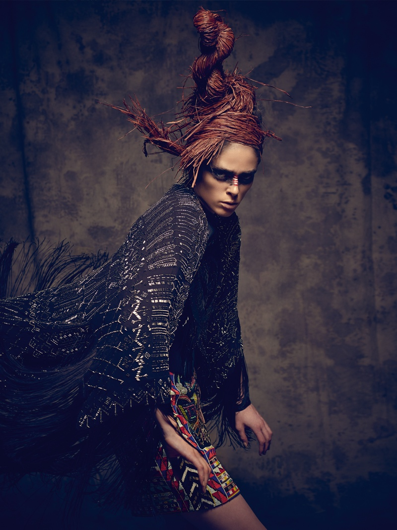 coco rocha bazaar mexico photos13 Coco Rocha Gets Wild for Harper's Bazaar Mexico Cover Shoot