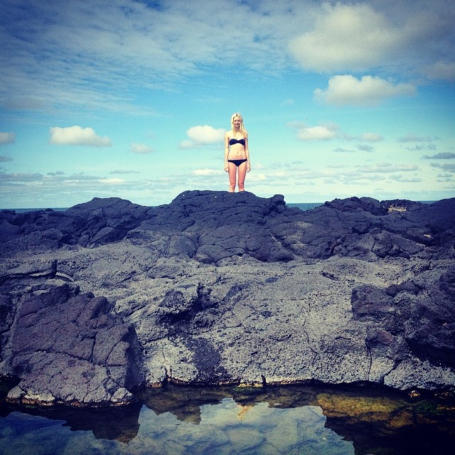 Codie Young shares a snapshot from Iceland