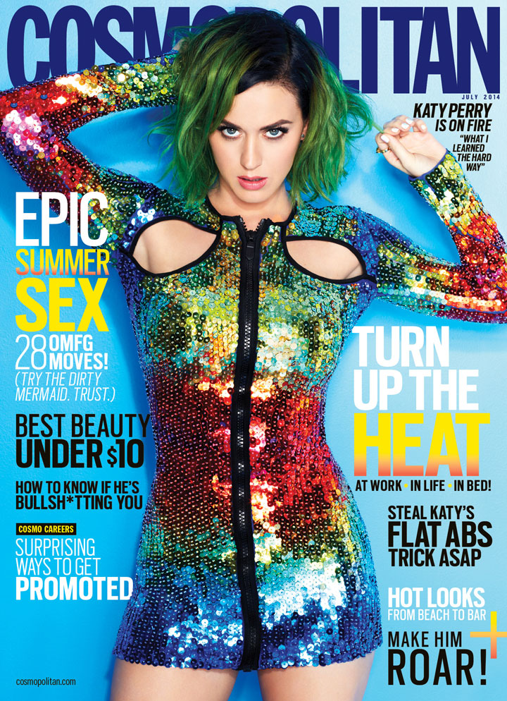 cos 01 katy perry july cover de Katy Perry to Cover All 62 Editions of Cosmopolitan for July