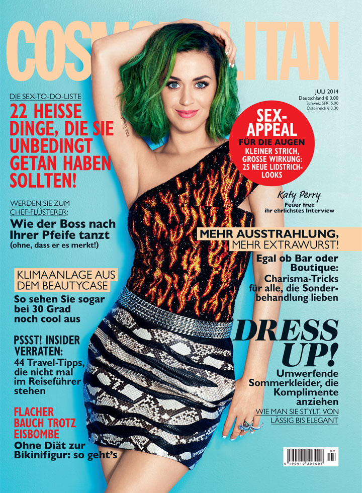Katy Perry on Cosmopolitan  German edition July 2014 Cover