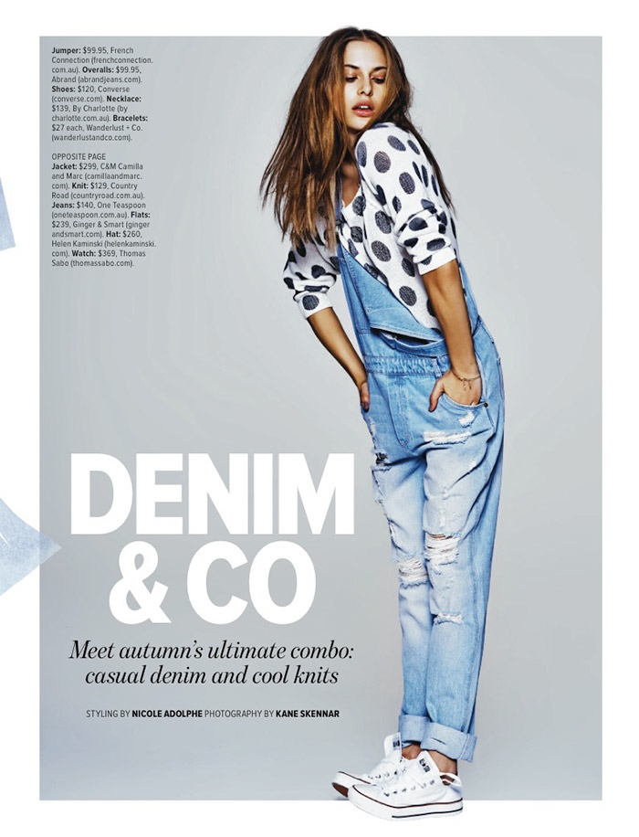denim autumn styles2 Denim & Co: Lana Has the Blues in Cosmopolitan Australia Spread