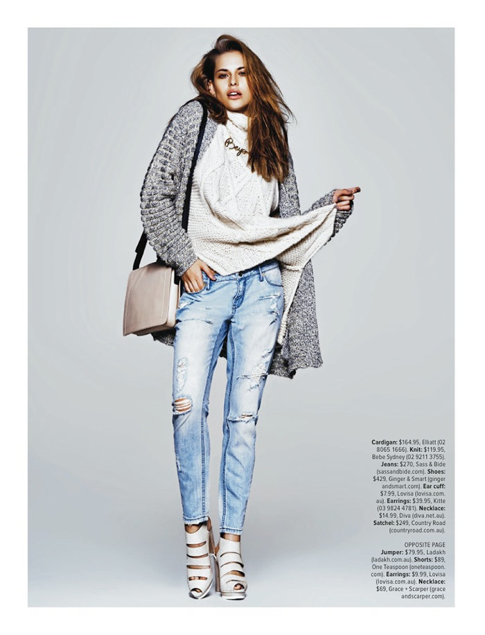 denim autumn styles3 Denim & Co: Lana Has the Blues in Cosmopolitan Australia Spread