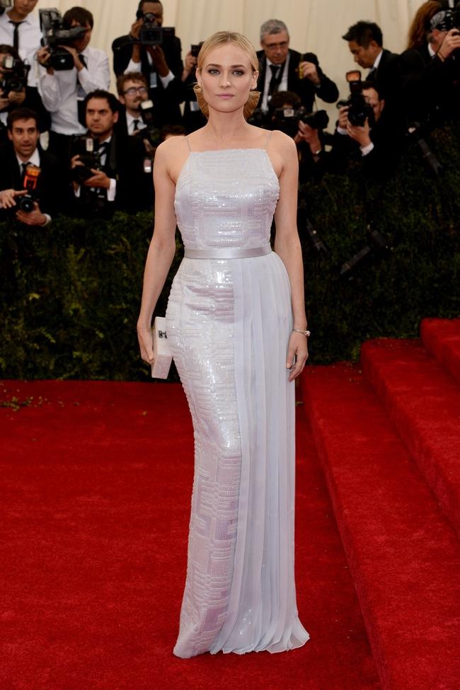 Diane Kruger shimmers in Hugo Boss dress