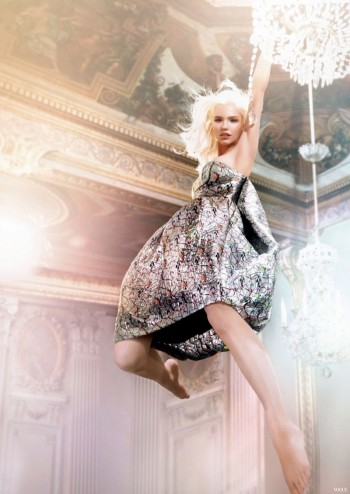 Sasha Luss Swings on a Chandelier for New Dior Addict Campaign