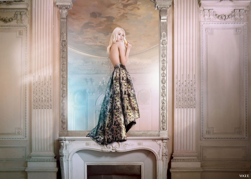 dior addict 2014 ryan mcginley3 Sasha Luss Swings on a Chandelier for New Dior Addict Campaign