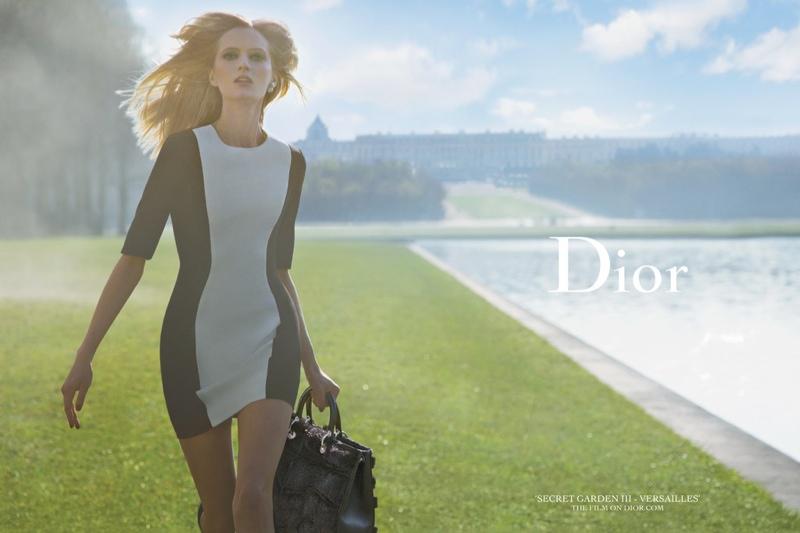 "Daria Strokous Poses in Versailles for Dior's ""Secret Garden"" 2014 Campaign"