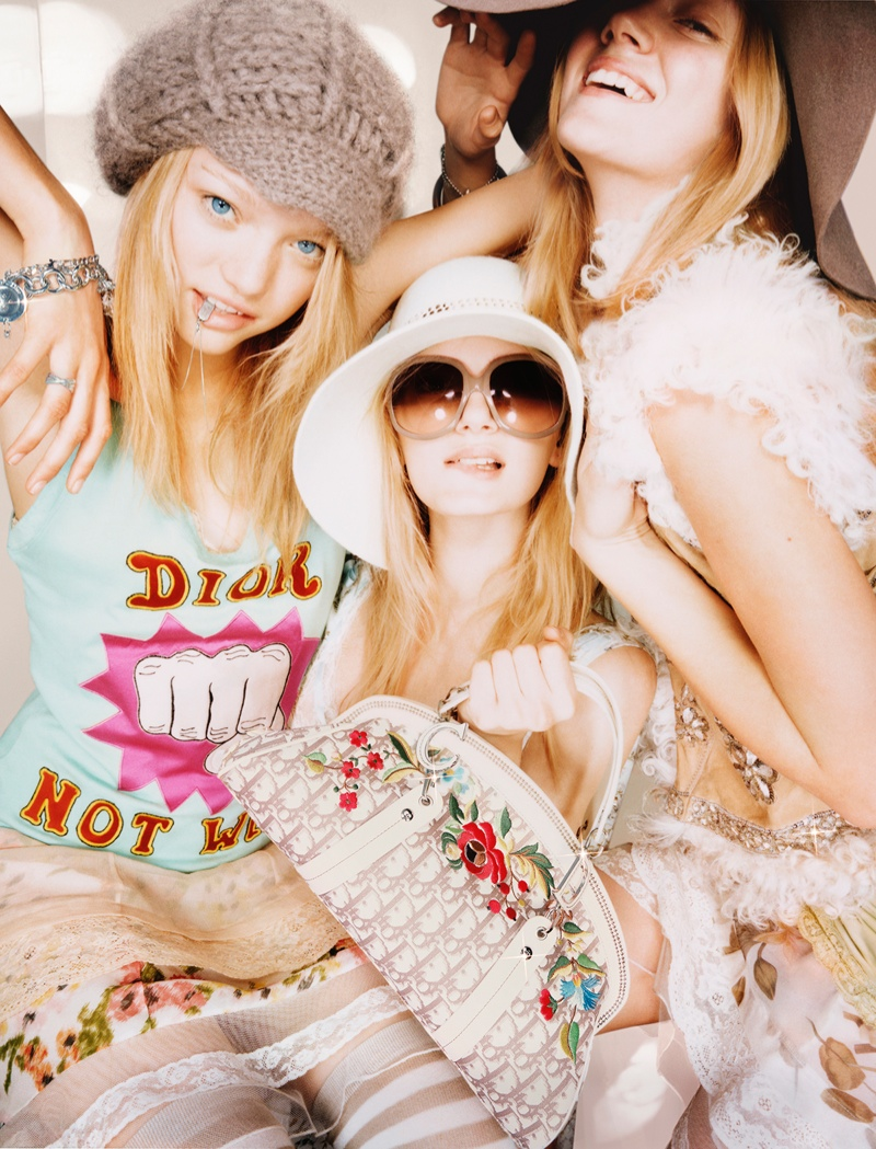 dior unreleased 2005 photos1 TBT | Gemma, Lily & Lindsay Have Photo Booth Fun in Unreleased 2005 Dior Images