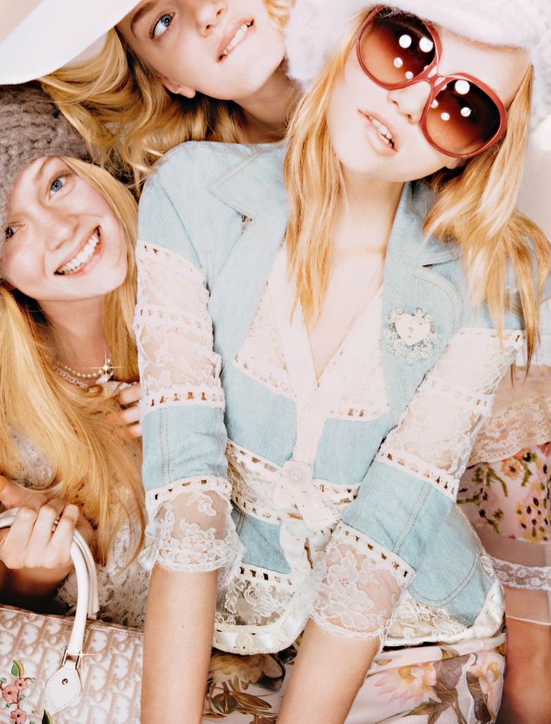 dior unreleased 2005 photos2 TBT | Gemma, Lily & Lindsay Have Photo Booth Fun in Unreleased 2005 Dior Images