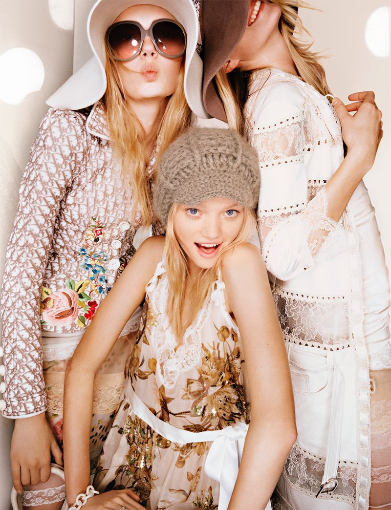 dior unreleased 2005 photos4 TBT | Gemma, Lily & Lindsay Have Photo Booth Fun in Unreleased 2005 Dior Images