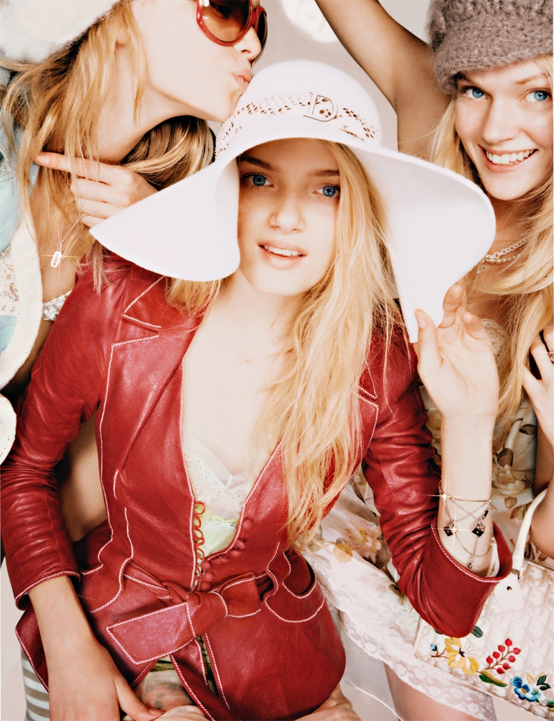 dior unreleased 2005 photos5 TBT | Gemma, Lily & Lindsay Have Photo Booth Fun in Unreleased 2005 Dior Images