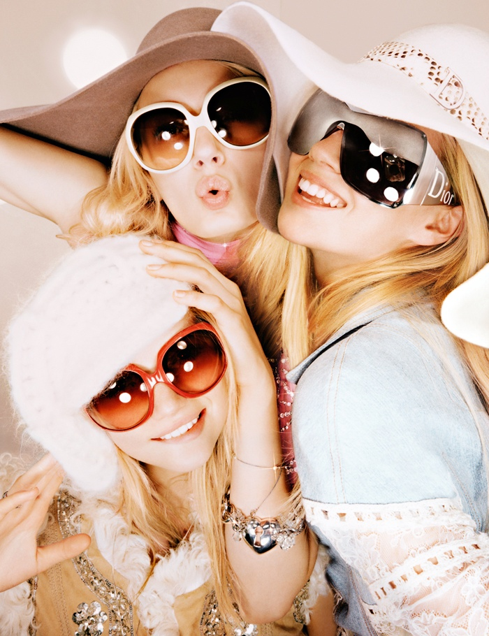 dior unreleased 2005 photos6 TBT | Gemma, Lily & Lindsay Have Photo Booth Fun in Unreleased 2005 Dior Images