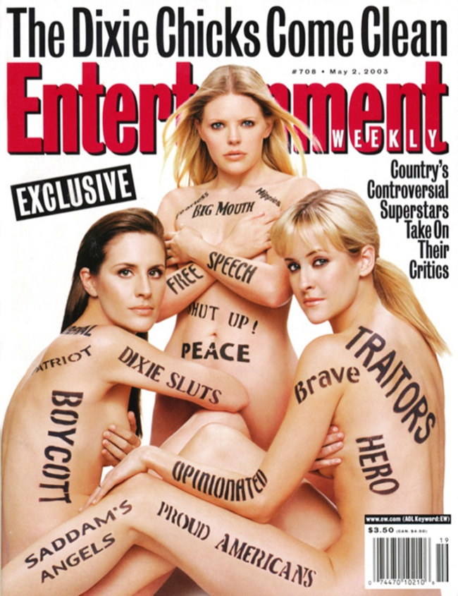 dixie chicks entertainment weekly 10 Controversial Covers That We Wont Forget Anytime Soon