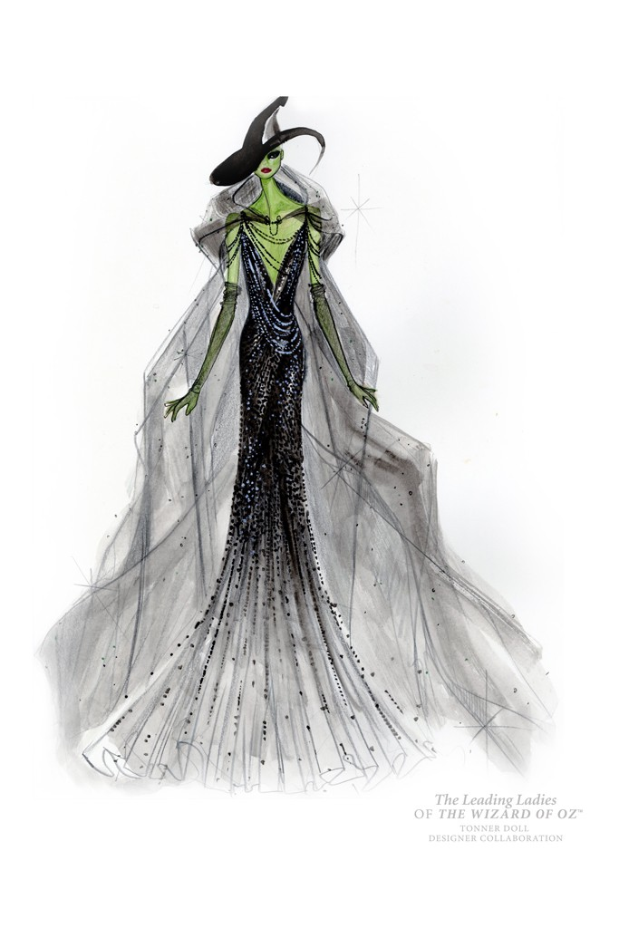 donna karan wicked witch doll Illustrations of The Wizard of Oz Ladies Reimagined by Top Designers