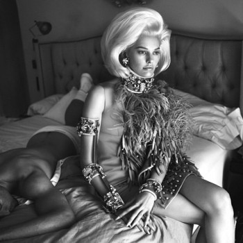 Preview | Amanda Murphy Lays in Bed for DSquared2's Fall 2014 Campaign
