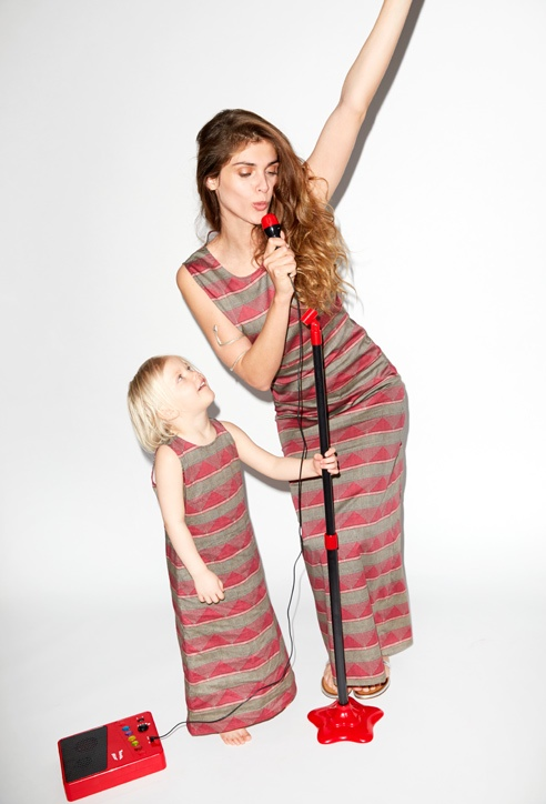 This Italian It Girl Is Your New Style Muse: Elisa Sednaoui Designs Mother & Kids Line For Yoox