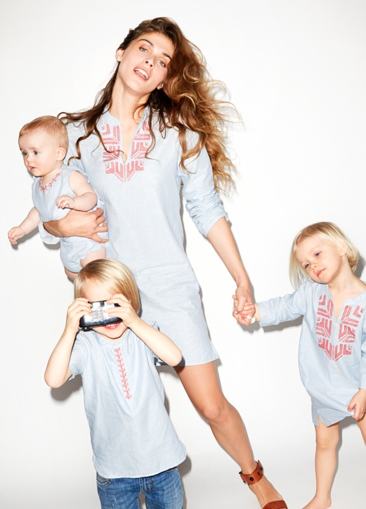 elisa sednaoui kids clothing yoox2 Elisa Sednaoui Designs Mother & Kids Little A Like Line for Yoox