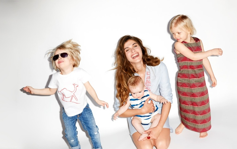 elisa sednaoui kids clothing yoox3 Elisa Sednaoui Designs Mother & Kids Little A Like Line for Yoox