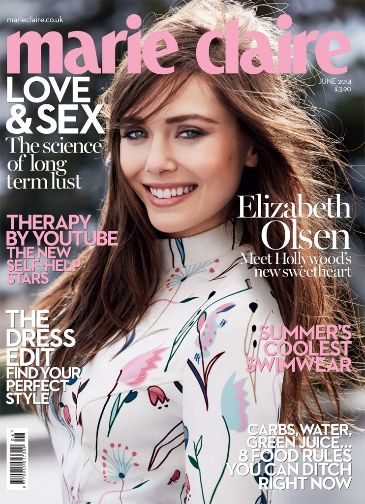 elizabeth olsen fashion shoot6 Elizabeth Olsen in Pastel Styles for Marie Claire UK Shoot by David Roemer