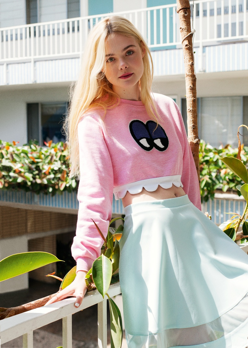 Elle Fanning Stars in ASOS Magazine, Talks Knowing Karl Lagerfeld