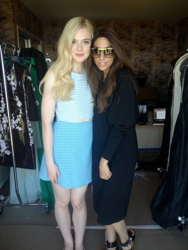 Elle Fanning and stylist Zeina Esmail