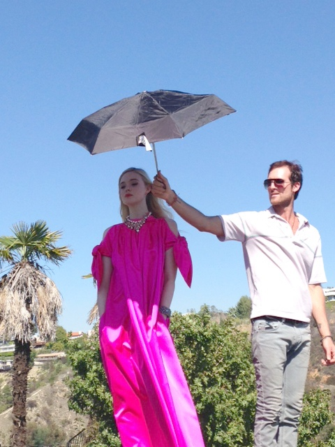 Elle Fanning and features editor Elio Iannacci