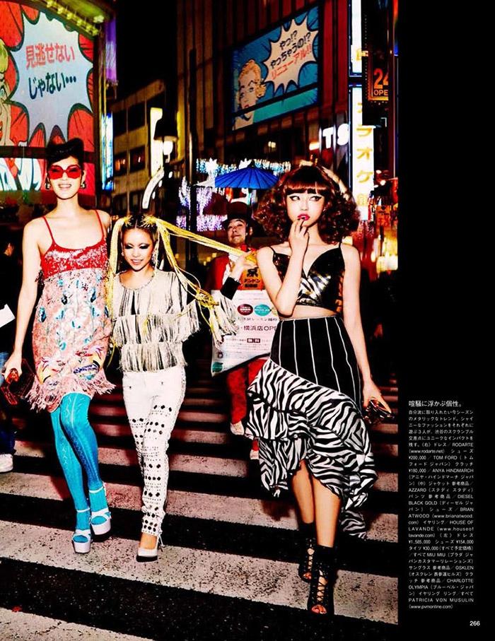 ellen von unwerth tokyo14 Chiharu Okunugi Takes Tokyo for Vogue Japan by Ellen von Unwerth