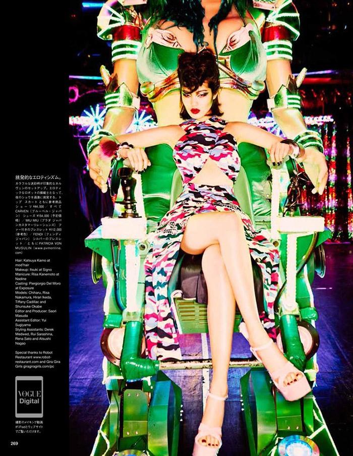 ellen von unwerth tokyo15 Chiharu Okunugi Takes Tokyo for Vogue Japan by Ellen von Unwerth
