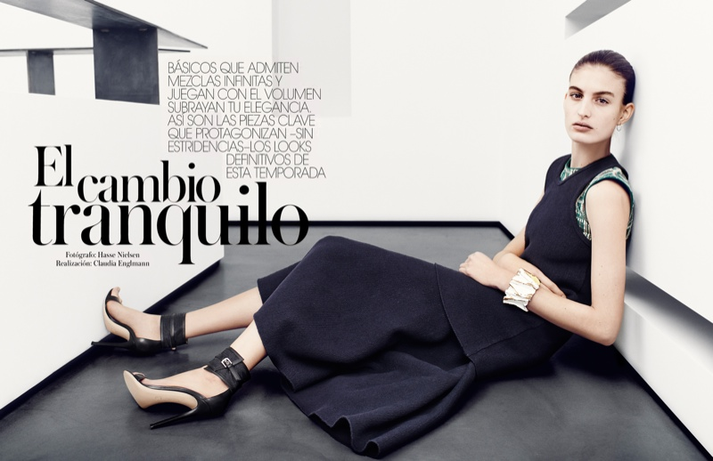 elodia prieto 2014 1 Tranquil Style: Elodia Prieto by Hasse Nielsen for Vogue Spain