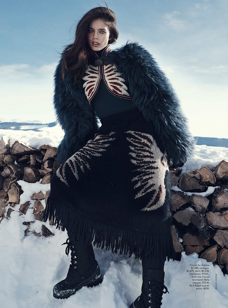 emily didonato benny horne12 Emily DiDonato Hits the Slopes for Vogue Australia Shoot by Benny Horne