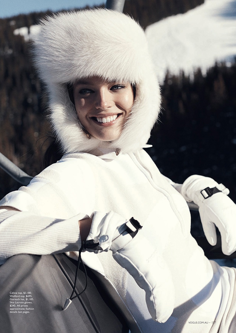 emily didonato benny horne2 Emily DiDonato Hits the Slopes for Vogue Australia Shoot by Benny Horne