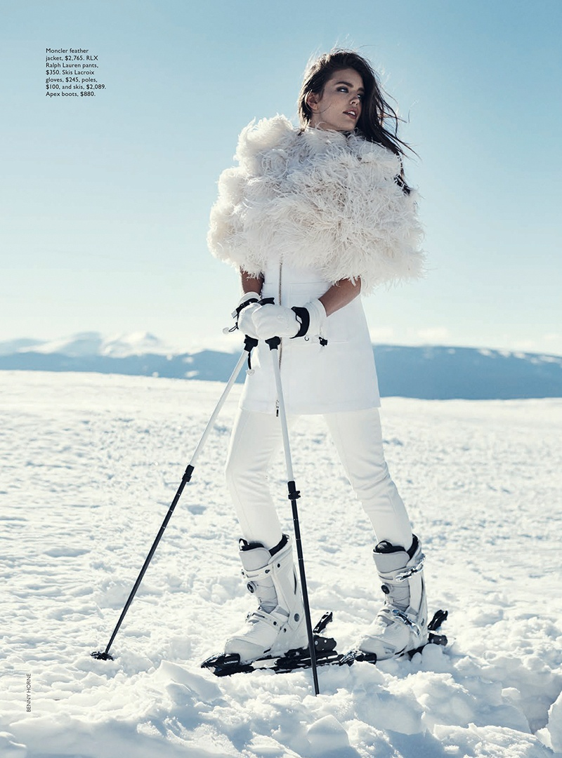emily didonato benny horne4 Emily DiDonato Hits the Slopes for Vogue Australia Shoot by Benny Horne