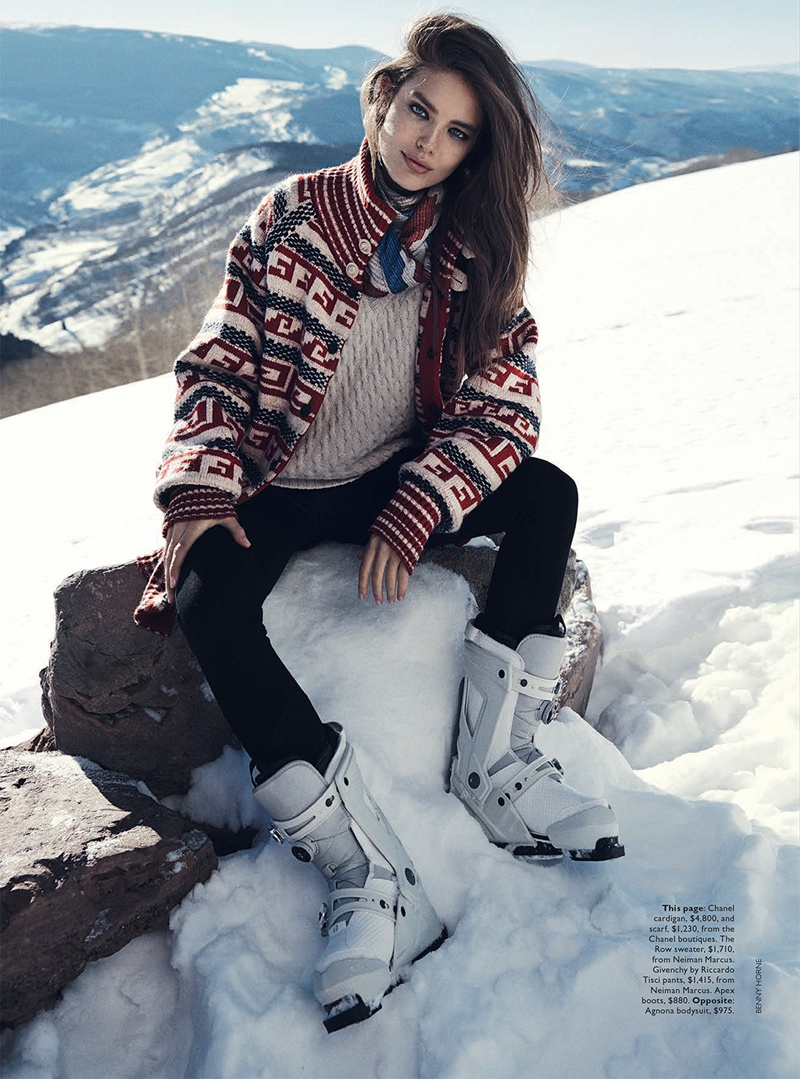 emily didonato benny horne8 Emily DiDonato Hits the Slopes for Vogue Australia Shoot by Benny Horne
