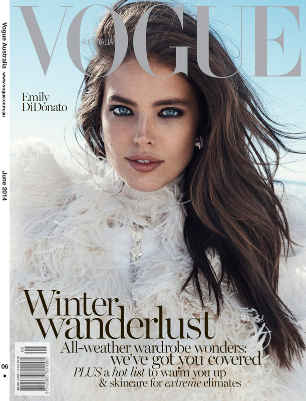emily didonato vogue australia 2014 cover Emily DiDonato is an Ice Queen on Vogue Australias June Cover