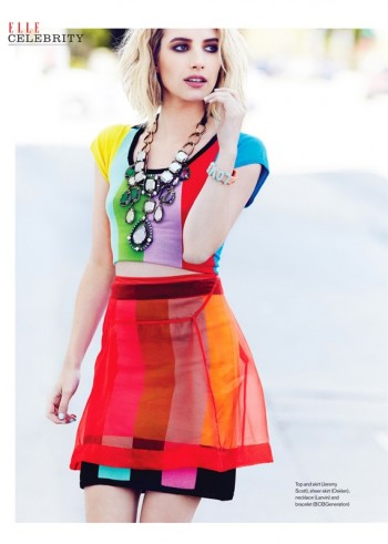Emma Roberts Gets Colorful for Elle Canada Shoot by Max Abadian