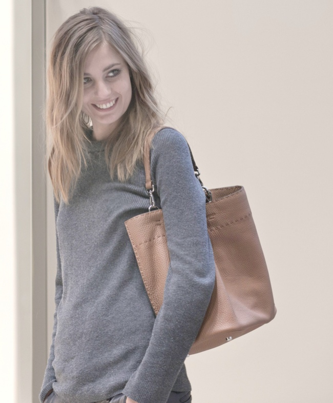 Nadja Bender with Fendi Anna Bag