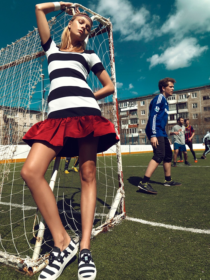football fashion shoot3  Football Star: Lys Inger Poses for Igor Oussenko in Stolnick