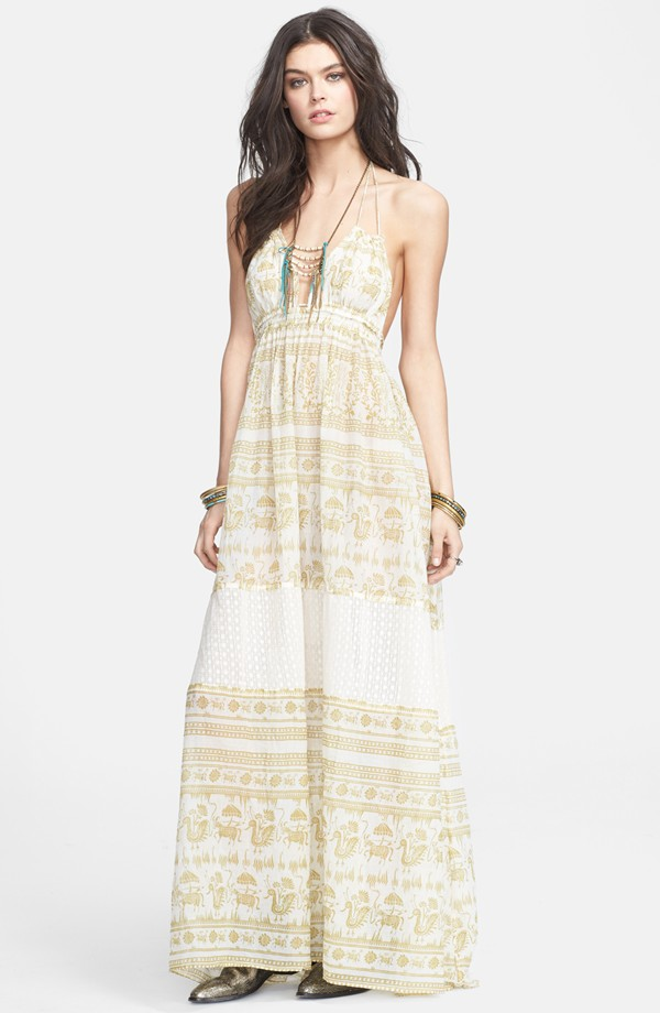 Free People Print Open Back Dress available at Nordstrom for $100.80