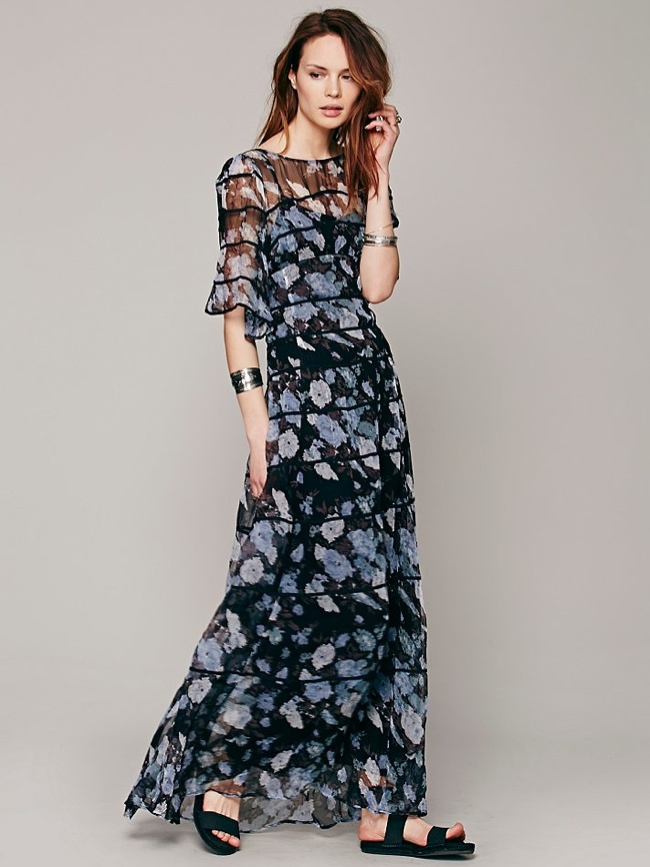Piped Flutter Sleeve Dress available at Free People for $99.95