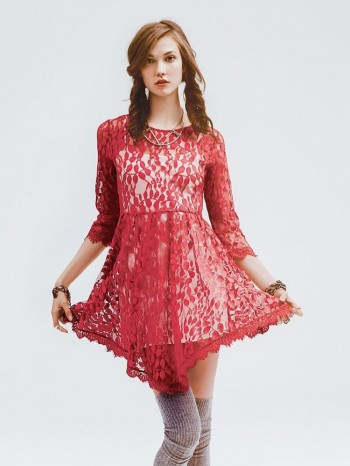 Floral Mesh Lace Dress available at Free People for $89.95