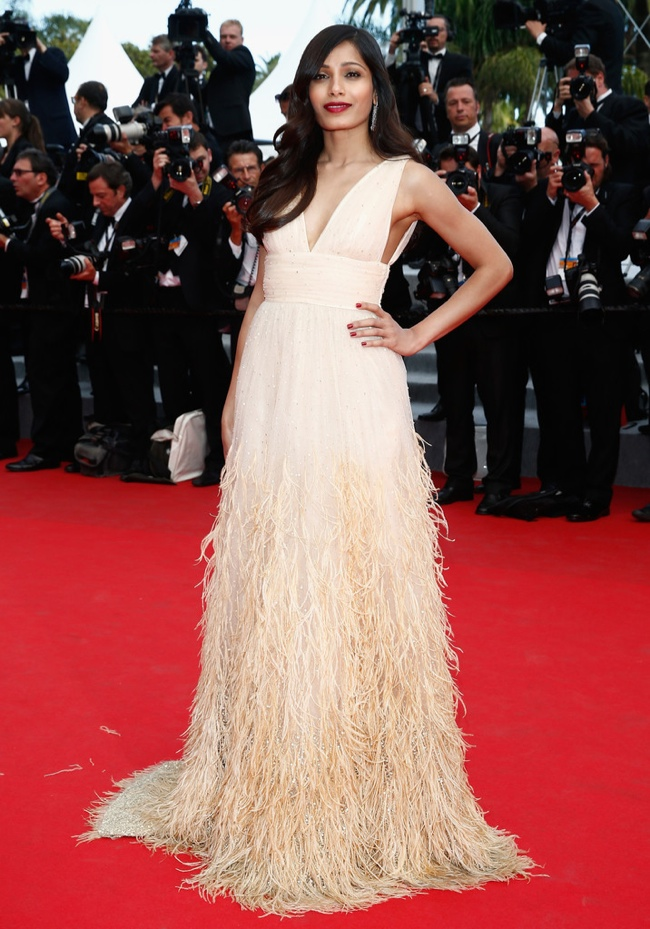 Freida Pinto donned a Michael Kors dress