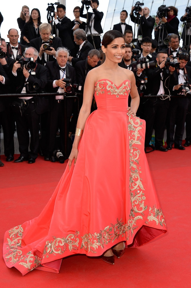 freida pinto oscar de la renta dress Cannes Fashion: Amber Heard, Alessandra Ambrosio, Sofia Coppola + More